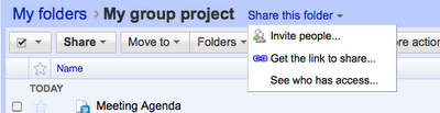 Google Docs Shared Folders